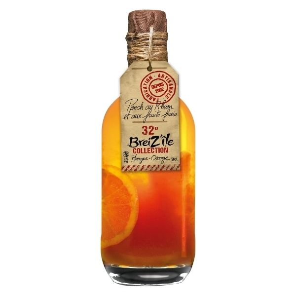 Rhum Arrangé Mangue:orange 32° 50 Cl