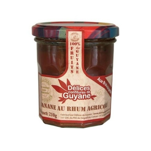 Confiture De Banane Au Rhum Delices De Guyane